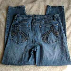 Cache Straight Leg Jeans Size 10